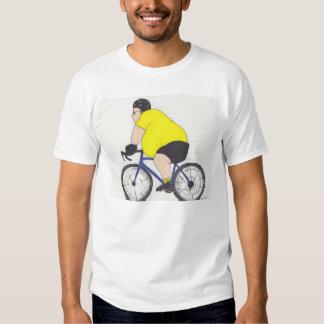 Ciclista gordo camisetas