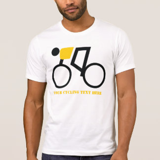 Ciclista que monta su personalizado de la camiseta