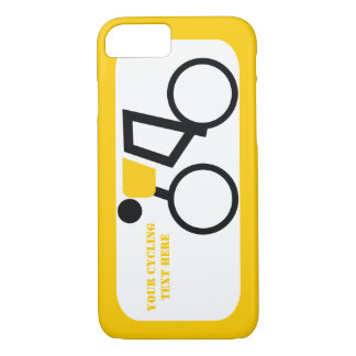 Ciclista que monta su personalizado de la funda iPhone 7