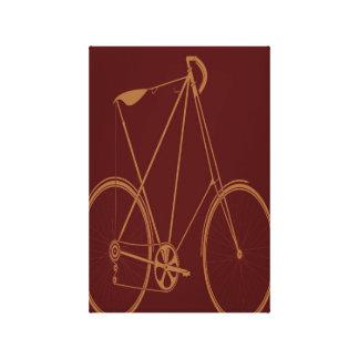 Ciclista rojo de la bici del moreno de la biciclet impresión en lona