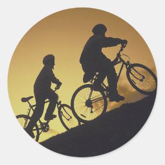 Ciclo BMX de ciclo que monta en bicicleta de la Pegatinas Redondas