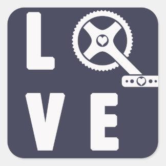 Ciclo del amor pegatina cuadrada