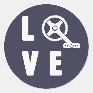 Ciclo del amor pegatina redonda
