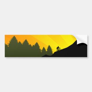 ciclo: rayz de la montaña: pegatina para coche