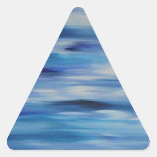 Cielo azul de la colección de las pinturas de pegatina triangular
