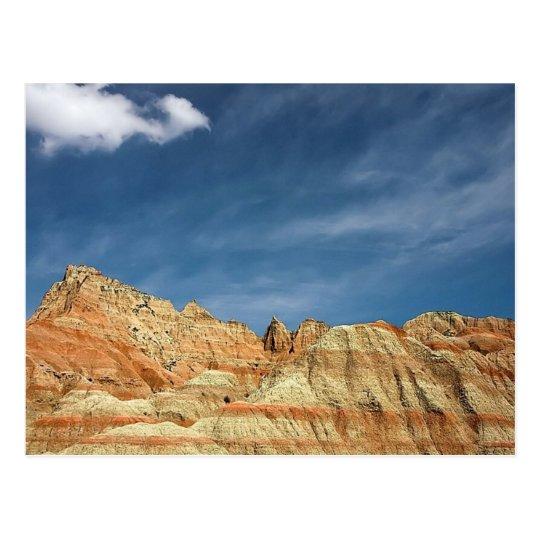 Cielo azul del color arenoso del parque nacional postal