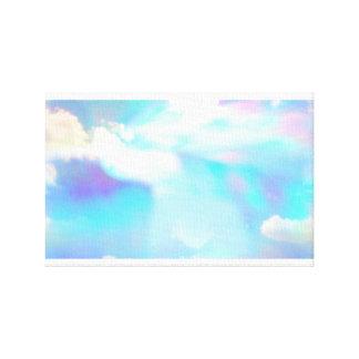 Cielo azul y nubes a través de la prisma lienzo