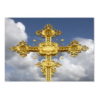 Cielo, cruz invitación 12,7 x 17,8 cm