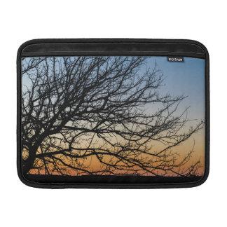 Cielo de la pendiente en invierno funda para MacBook air