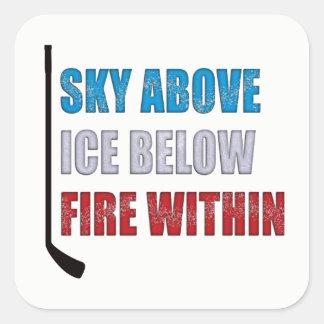 Cielo del pegatina del hockey sobre hielo sobre el