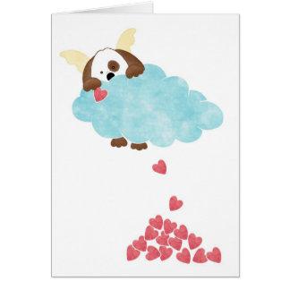 Cielo del perrito tarjeta de felicitación