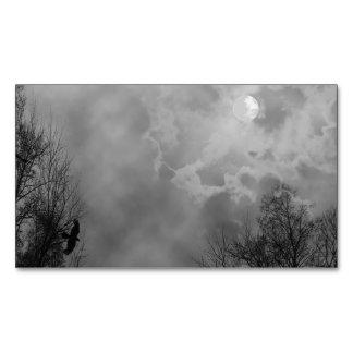 Cielo frecuentado de Halloween con los cuervos Tarjetas De Visita Magnéticas (paquete De 25)
