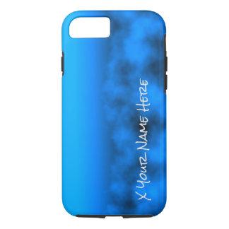 Cielo nocturno azul de neón con nombre negro del funda iPhone 7