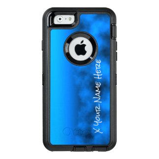 Cielo nocturno azul de neón con nombre negro del funda OtterBox defender para iPhone 6