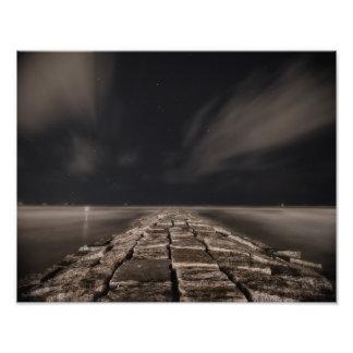 Cielo nocturno de Galveston Arte Fotográfico