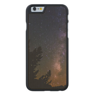 Cielo nocturno de la vía láctea, California Funda De iPhone 6 Carved® Slim De Arce