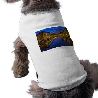 cielo nocturno del canal del canal de la noche de camiseta sin mangas para perro