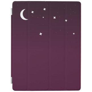 Cielo nocturno estrellado del ombre púrpura cover de iPad