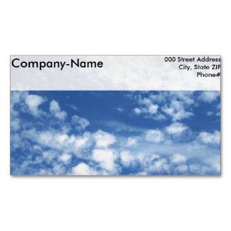 Cielo nublado tarjeta de visita magnética