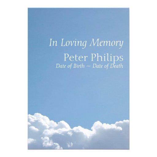 Cielo pacífico 3 - invitación fúnebre de la