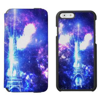 Cielo parisiense iridiscente funda cartera para iPhone 6 watson