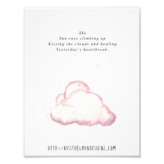 Cielo - poesía 8,5 x 11 imprimible impresiones fotográficas