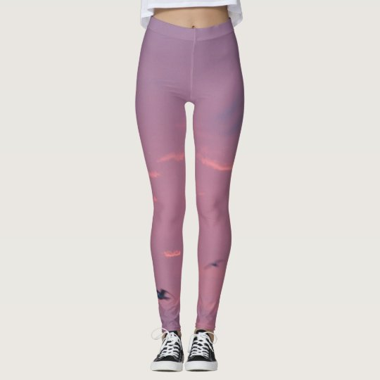 Cielo púrpura y magenta leggings