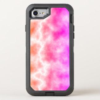 Cielo rosado de la tempestad de truenos funda OtterBox defender para iPhone 8/7