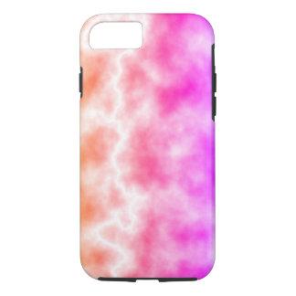 Cielo rosado de la tempestad de truenos funda para iPhone 8/7