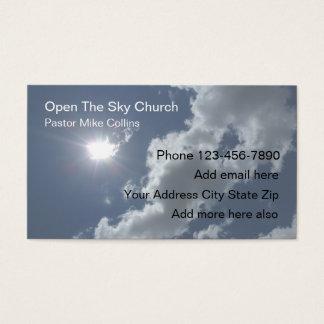 Cielo Sun del pastor de la iglesia cristiana Tarjeta De Negocios