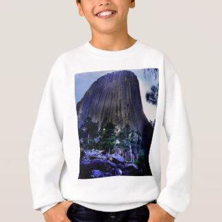 Cielo y pino ponderosa azul marino en la torre de camiseta
