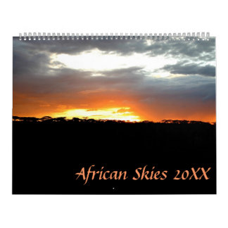 Cielos africanos calendario de pared