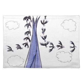 Cielos azules de ShardArt de Tony Fernandes Salvamanteles