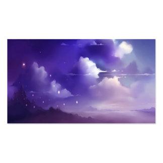 Cielos violetas tarjetas de visita