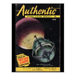 Ciencia ficción __P mensual auténtico de diciembre Postal