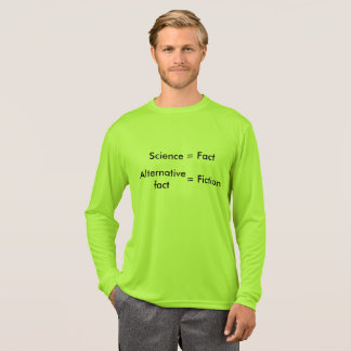 Ciencia = hecho/camisa alternativa del hecho = de camiseta