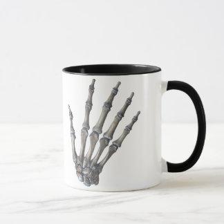 Ciencia humana de la anatomía del vintage, manos taza