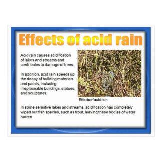 Ciencia, química, efectos de la lluvia ácida tarjetas postales