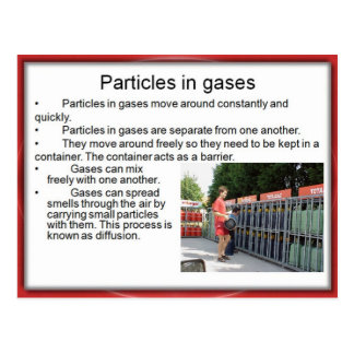 Ciencia, química, partículas en gases postales