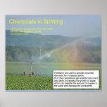 Ciencia, química, sustancias químicas en el cultiv poster