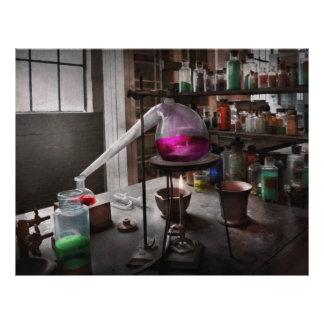 Ciencia - químico - química para la medicina tarjetas informativas
