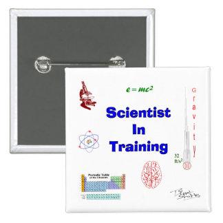 Científico en el entrenamiento chapa cuadrada
