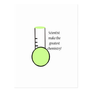 Científico y química postal