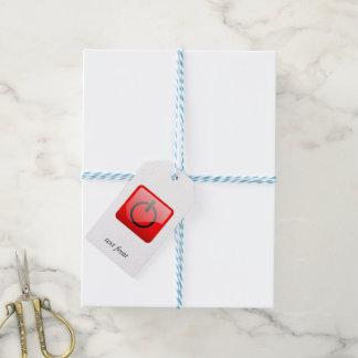 Cierre el símbolo del botón etiquetas para regalos