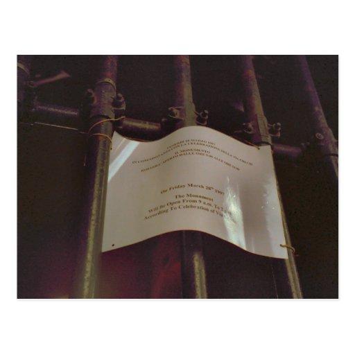 Cierre en 2pm para el rosario tarjetas postales