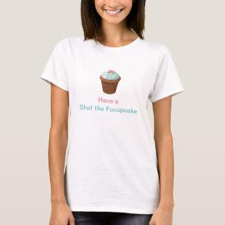 Cierre la aguamarina divertida del rosa de la camiseta