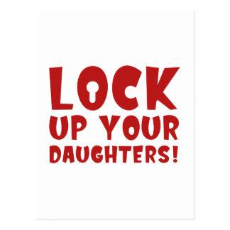 ¡Cierre para arriba a sus hijas! Postal