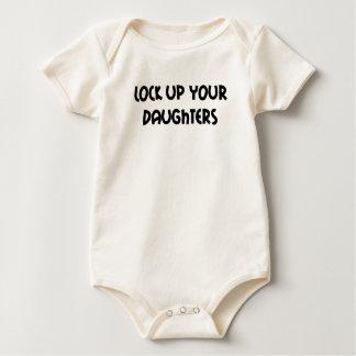 Cierre para arriba su mono de las hijas body para bebé