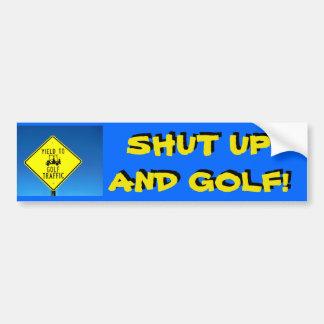 ¡Cierre para arriba y Golf! - Pegatina lento del