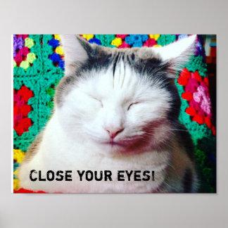 ¡Ciérrese los ojos! Póster